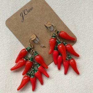J.Crew Chili Pepper Drop Earrings